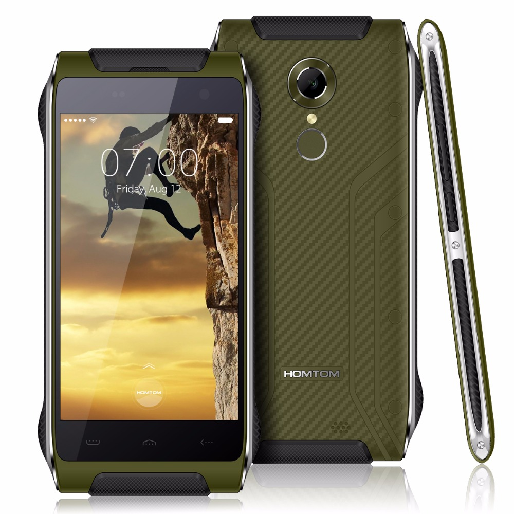 """Original HOMTOM HT20 Android 6.0 MTK6737 Quad Core 8.0MP 4.7"""" 2G RAM 16G ROM 4G Waterproof IP68 Fingerprint FDD-LTE MobilePhone"""