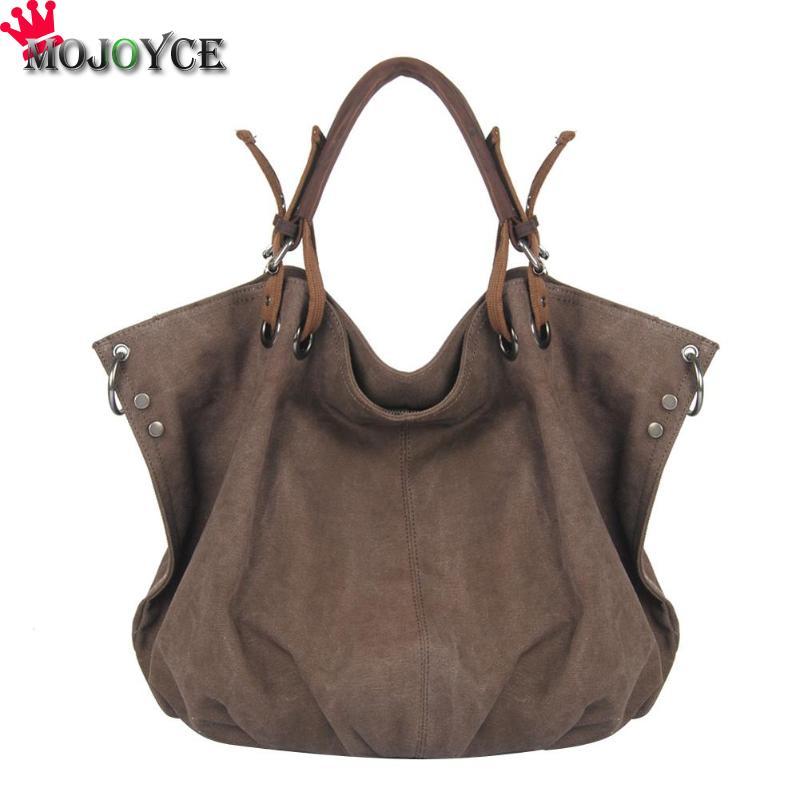 Bag Ladies Retro Canvas Shoulder Bag With Strap Travel Hobo Big Totes Handbags Bolsa Feminina
