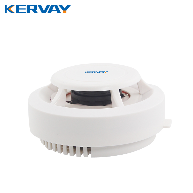 433mhz Wireless Smoke Detector 80dB  Fire Alarm linked with alarm system Home Commercial Security Guaider Alarm Sensor Device yobangsecurity wifi gsm gprs home security alarm system android ios app control door window pir sensor wireless smoke detector