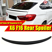 цена на F16 P Style Spoiler rear lip wings FRP Unpainted Fits For BMW X Series X6 Auto Racing rear trunk Spoilers wing Lip 2015-2018
