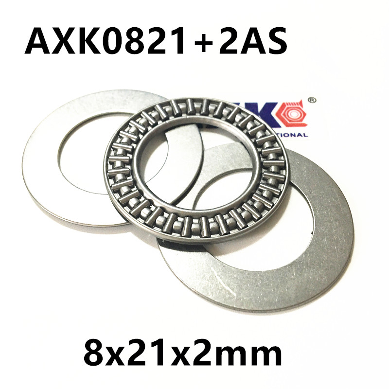 AXK0821+2AS Thrust Needle Roller Bearing & Washers 8x21x2mm for 8mm shaft hk0306 needle roller bearing 3mmx6 5mmx6mm 3x6 5x6 mm hk0306tn for 3mm shaft