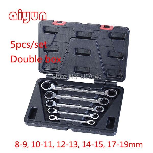 Купить 5 шт. / устанавливается двойной блок рожковый ключ ключ комбинированный коробка передач гаечный ключ ключ комплект гаечных ключей 72 т CRV дешево