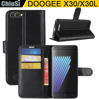 10 Pcs Lot Wallet PU Leather Case Cover For DOOGEE X30 X30L Flip Protective Phone Back