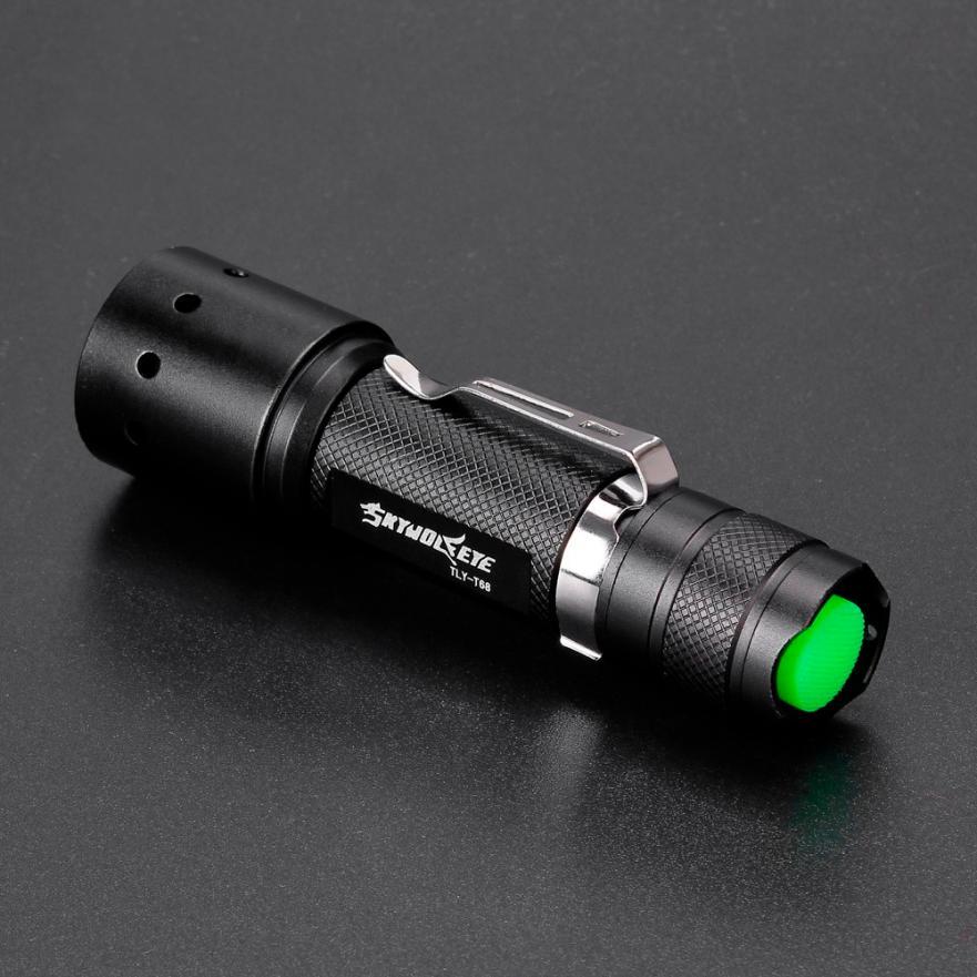 3500LM 18650 XML T6 LED Zoomable Bronze Flashlight Torch Lamp Powerful Outdoor Bike Lantern Camping Night Fishing Light 09PJ4