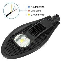 1pc 30W 50W COB lampa uliczna led wodoodporna IP65 droga lampa uliczna oświetlenie zewnętrzne AC85-265V ciepły/zimny biały droga kinkiet