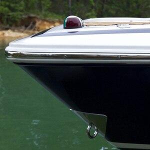 Image 3 - 12 V 8 W tekne Yat Navigasyon hafif paslanmaz çelik Yay Işık Tekne Aksesuarları Deniz