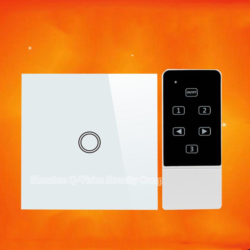1-EU 1Gang 2Way Smart Home Wifi Light  Switch Remote Control Wall Switch Crystal Panel 110-220V RF433 Compatibl Broadlink RM Pro
