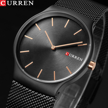 CURREN Brand Luxury Mens Quartz Watch Men Waterproof Ultra Thin Analog Clock Male Fashion Sports Watches Black relogio masculino - discount item  47% OFF Men's Watches