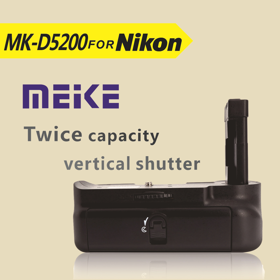 MEKE Meike MK-D5200 Vertical Battery Grip for Nikon D5200 EN-EL14 ...