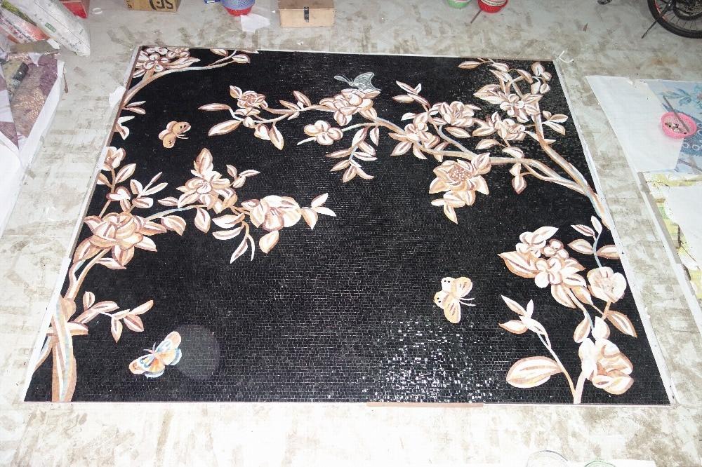 mural de parede completo de obras de arte em mosaico de vidro feito - Decoração de casa - Foto 2