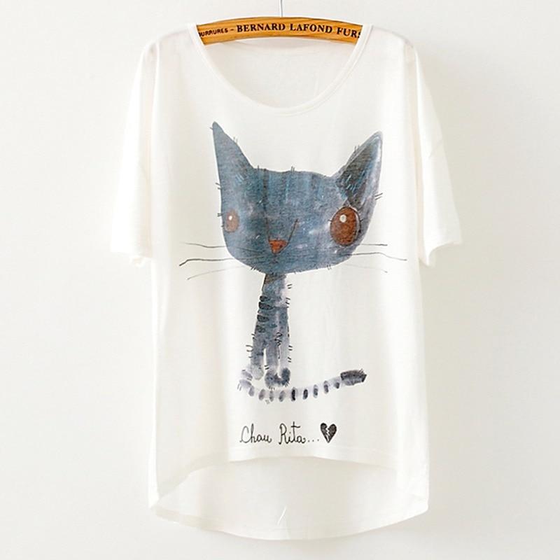 Brand New 2019 Summer T-shirt Women Top Casual Tee Animal print Loose Big Batwing Sleeve T shirt Women Tops