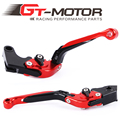 GT Motor - R-19/Y-688 Adjustable CNC 3D Extendable Folding Brake Clutch Levers For Yamaha YZF R1 2009-2014