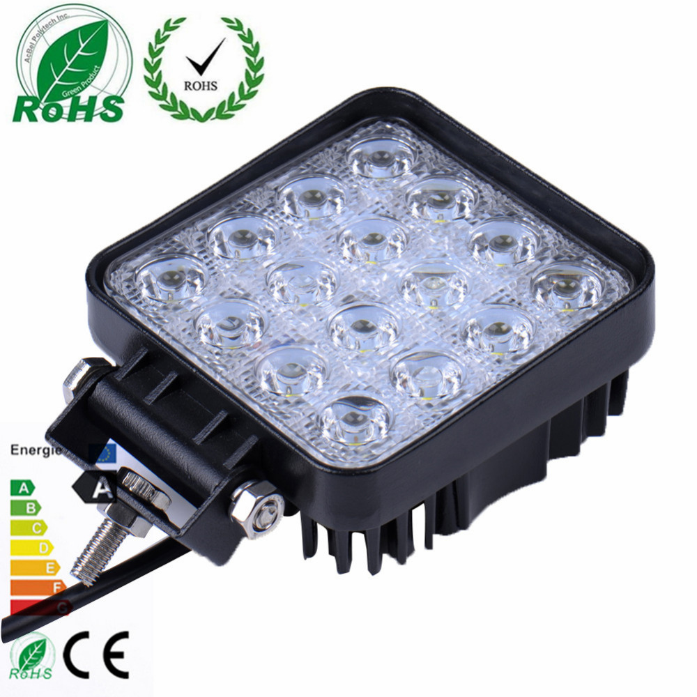 2Pcs 4 Inch 48W LED Work Light for Indicators Motorcycle Driving Offroad Boat Car Tractor Truck 4x4 for SUV ATV Flood 12V 24V 18w led work light date running lights driving led bar offroad for indicators motorcycle boat car tractor truck 4x4 suv atv jeep