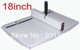 Office paper creaser, creasing machine for paper photo card 460mm , manual scoring machine 18'' a4 size manual flat paper press machine for photo books invoices checks booklets nipping machine