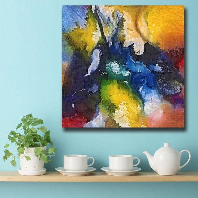 Online Shop Fashion Oil Painting Abstract Celestial Voyage Paiting ...
