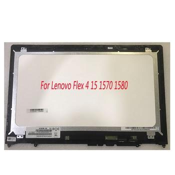 LCD Touch screen Digitizer Display Assembly for Lenovo Flex 4 15 Flex 4-1580 80VE Flex 4-1570 80SB with Bezel