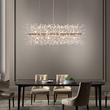 Modern Crystal Pendant Lights Fixture Romantic Flower Dandelion Hanging Lamps Shopping Mall Hotel Dining Room LED Light
