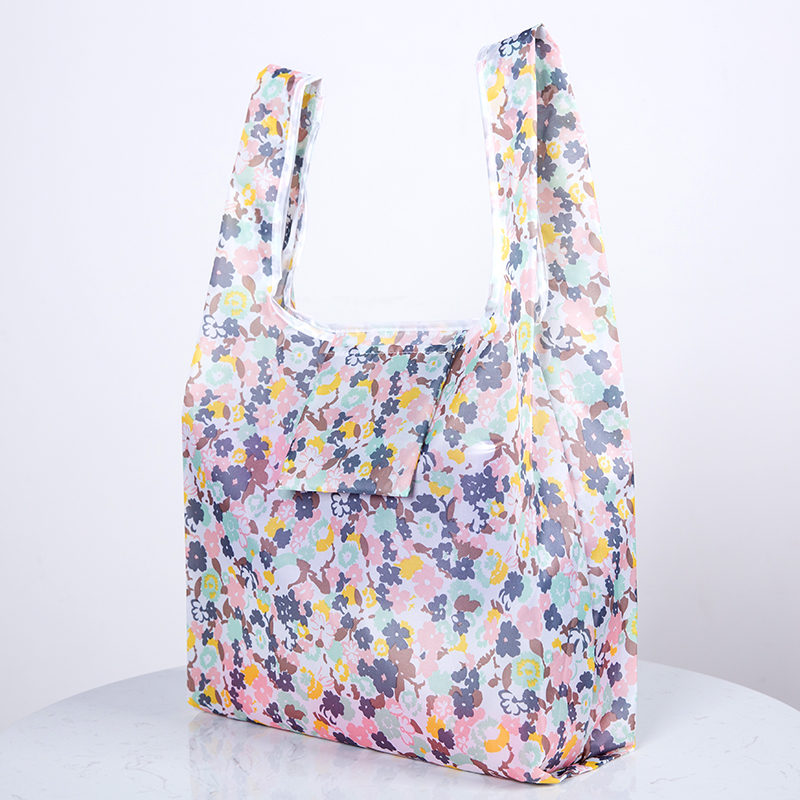 Flamingo bag Many Colors polyester Foldable Recycle Shopping Bag Eco Reusable Tote Bag Cartoon Floral Fruit Vegetable Grocery