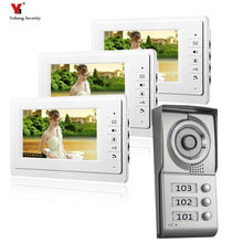 Yobang Security 3 Apartment 7 inch Video Intercom Video Door Phone  IR Night Vision Outdoor Camera for Home Security System