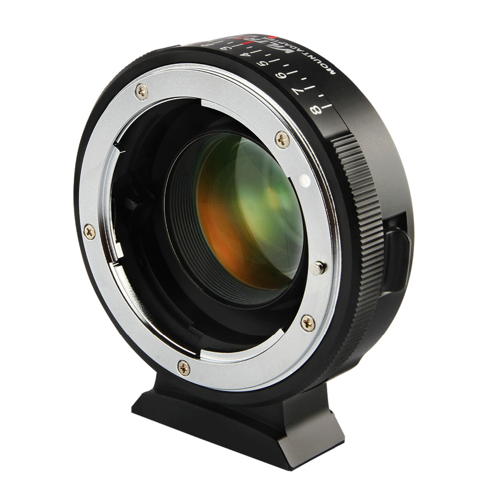 Viltrox NF M43X Manual Focus 0 71x Reducer Speed Booster Lens Mount Adapter for Nikon G