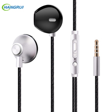 Metal In-Ear Earphone Stereo Bass Sound Earbuds With Mic Wired Control 3.5MM HIFI Headset For iPhone Android Universal Ear Buds hot sale universal 3 5mm in ear music earbuds ear buds earphones for iphone for samsung professional earphone headphone headset