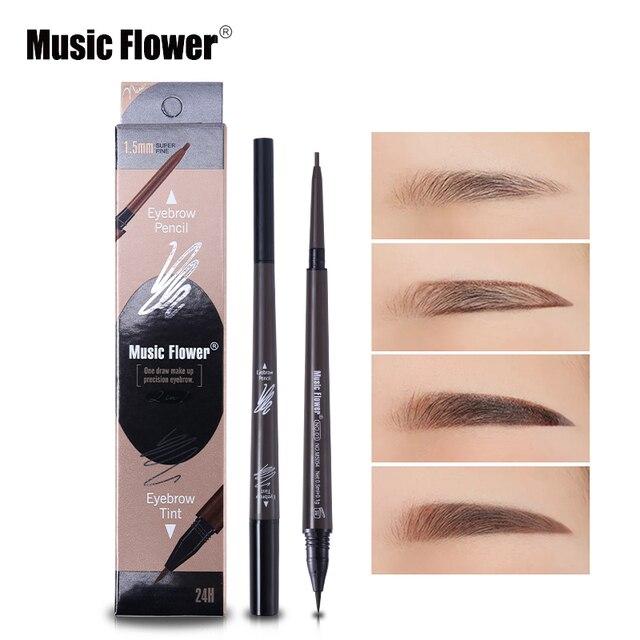 Music Flower Double Ended Eyebrow Pencil Tinted Eyebrow Waterproof