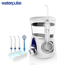 hot deal buy waterpulse v600w water flosser with 5 tips electric oral irrigator dental flosser 800ml capacity oral hygiene for family care