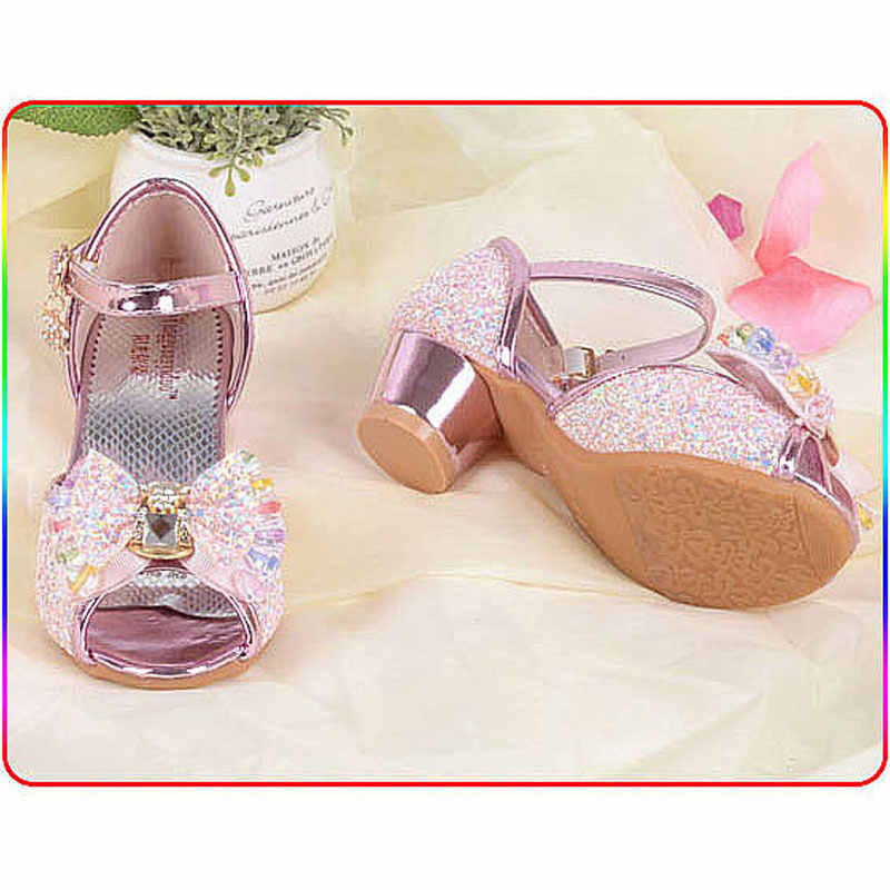 ... Blue Pink Silver Bling Bling Kids Party Shoes Wedding Elegant Dress  Shoes For 4-12Years 8b21bac8ad73