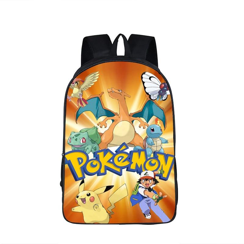 a45fd46570e8 Anime Pokemon Go Backpack For Teenagers Girls Boys School Bags Pikacun  Children School Backpacks Pokeball Kids Best Gift Bag