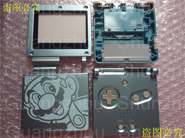 For Mario Limited Edition Housing Shell Case Repair Part For Gba Sp