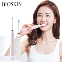 BIOSKIN Smart Charging Electric Sonic Waterproof Massage Toothbrush Oral Health Care Device support 5 systems & 3 brushes