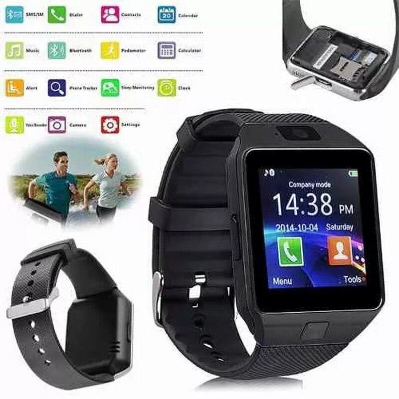 imágenes para Wearable Dispositivos U8 Smartwatch DZ09 Deporte Inteligente SIM Electrónica Digital de Muñeca Reloj Teléfono Con Hombres Para el iphone de Apple Android Wach