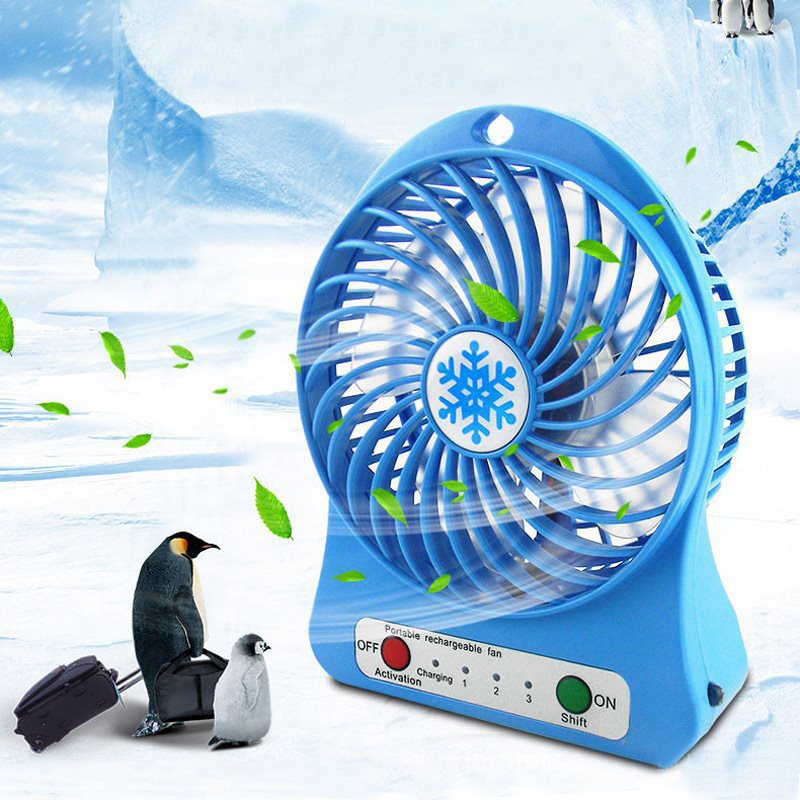 1PC Portable Personal Mini Fan Adjustable 3 Speed USB Rechargeable Fans Home Office Desk Cooler Fan Summer Air Cooler