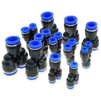 4mm 6mm 8mm 10mm 12mm rura OD 3 way Y kształt pneumatyczne złącze wtykowe szybkie połączenie montaż równy lub redukujący tanie i dobre opinie Z tworzywa sztucznego Równe Push In Connector Round Injection