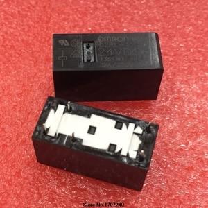 Image 2 - Бесплатная доставка, новинка, оригинальное реле Omron, 10 шт./лот, G2RL 1 24VDC, 1, 2, 2, 2, 24 в пост. Тока, 12А, 5 контактов