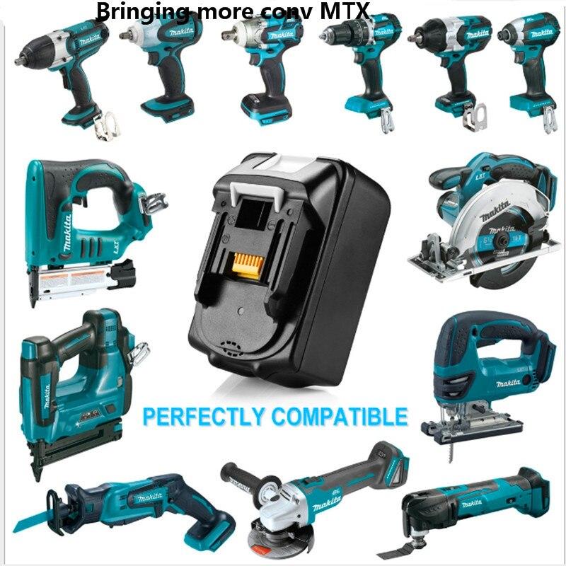 Plus récent 6000 mah 18 V 6.0Ah lumière LED Au Lithium batterie Pour outils Électriques Makita 18 V BL1830 BL1840 BL1850 LXT400 194230-4 BL1815