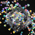 3ml/box Holo Nail Glitter Mixes Heart Round Star Nail Sequins Holographic Glitter Nail Art Decorations