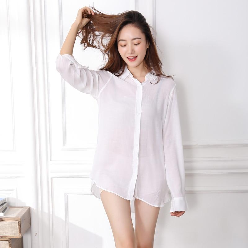 Sexy Sleep Shirts Women Night Shirt Sexy Nightwear Sexy -1245
