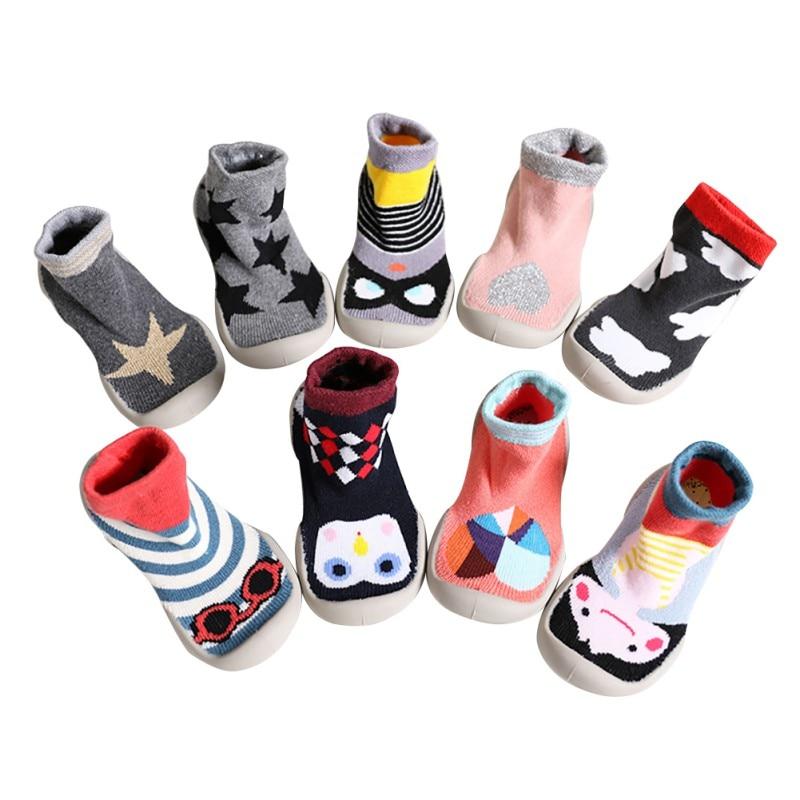 От 0 до 4 лет для новорожденных обувь нескользящие Дети Детская обувь мультфильм Prewalker мягкая подошва для младенцев детская обувь первые ход...