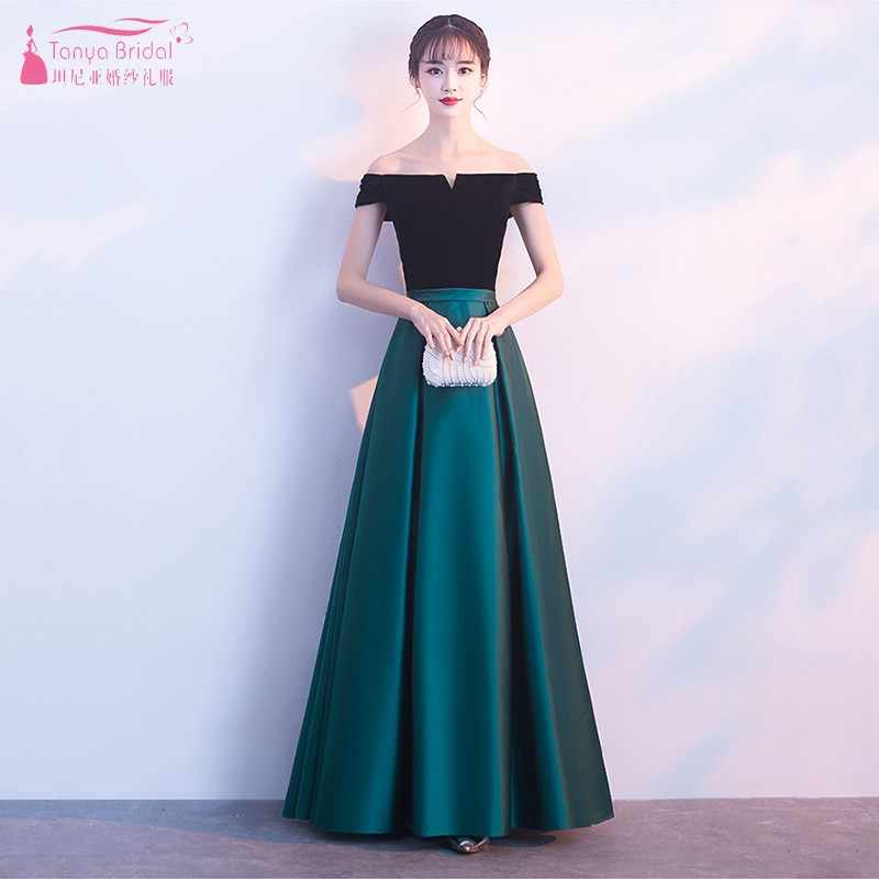a8b543f183cf Turquoise Bridesmaid Dresses 2019 Satin Long A-Line Short Sleeves Wedding  Party Prom Girl Dresses