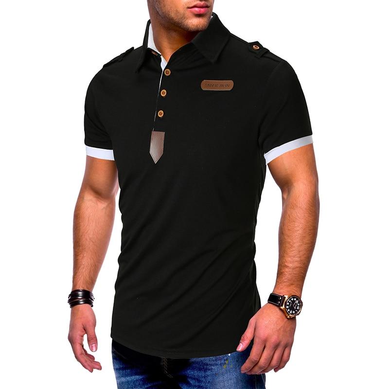 2019 Brand New Men's   Polo   Shirt High Quality Men Cotton Short Sleeve shirt Brands jerseys Summer Mens   polo   Shirt Shoulder strap