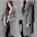 2016 Women Plus Size Pregnant  Autumn Winter Cassic Simple Woolen Maxi Long Coat Female Robe Outerwear Pregnant  Manteau Femme