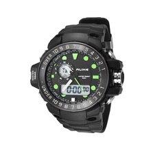 POR IGUAL AK15112 5ATM Impermeable Hombres Analógico Digital Dual Time Display Deportes Reloj de pulsera con Fecha Alarma Cronómetro Luz de Fondo