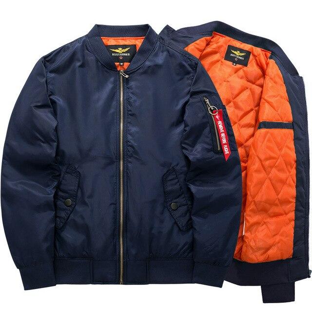 Mode Dikke en Warme Herfst winter Militaire Motorfiets jas en leisure luchtmacht piloot jas 8808