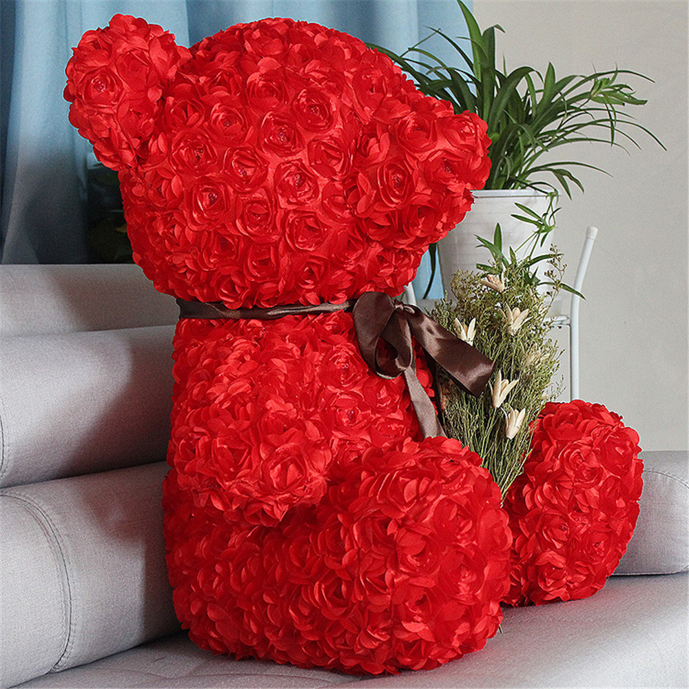 Fancytrader Red Rose Teddy Bear Toy Nice Quality Big Bear Teddy Doll 70cm 28inch for Kids Adults Gifts5