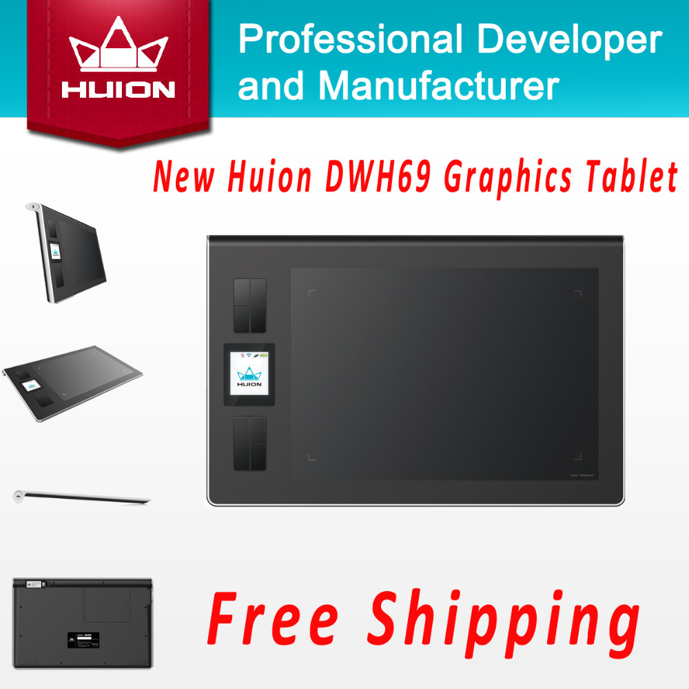 Hot Sale New Huion DWH69 Wireless Digital Tablets Kids Pen Tablet Art Drawing Designer Graphics Tablets For Windows Mac OS Black l oreal perfection riche губная помада 376 страсти кассис