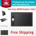 Venta caliente Nueva Huion DWH69 Inalámbrico Digital Tabletas Niños Pluma tableta de Dibujo Arte Tabletas Gráficas de Diseño Para Windows Mac OS negro