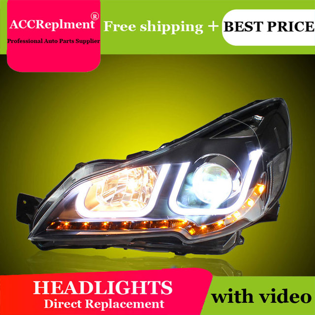 רכב סטיילינג עבור פנסי ערבה U עיני מלאך 2010-2013 עבור אאוטבק LED אור בר Q5 bi קסנון עדשה LED הנורה מקרן ריצה