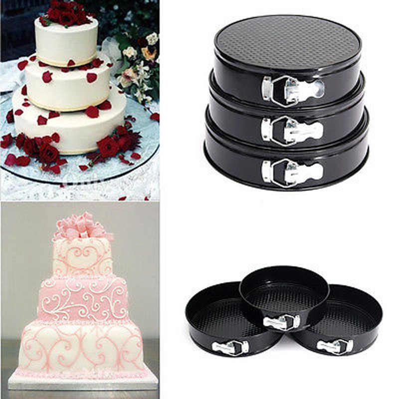 """9 """"10"""" 11 """"Металлический Набор форм для выпечки антипригарный пирог форма для круглого торта Формы для выпечки свободные базовые стальные формы для выпечки DIY кухонные формы для выпечки"""