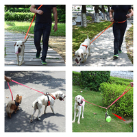 TAILUP Nylon Double Leashes Rope For Small And Medium Dogs Adjustable Hands Free Pet Leash Leads